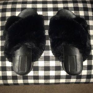 Forever 21 Faux Fur Platform Sandal